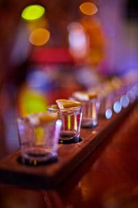 Pentru cei care sunt pusi pe imbatat in mod serios ii servim cu un metru de tequila mexicana - ceainaria Ramayana Cafe Bucuresti.